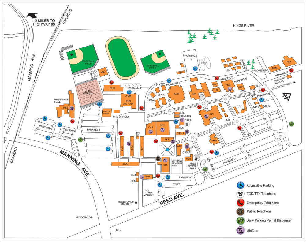 campus map  reedley college - campus map