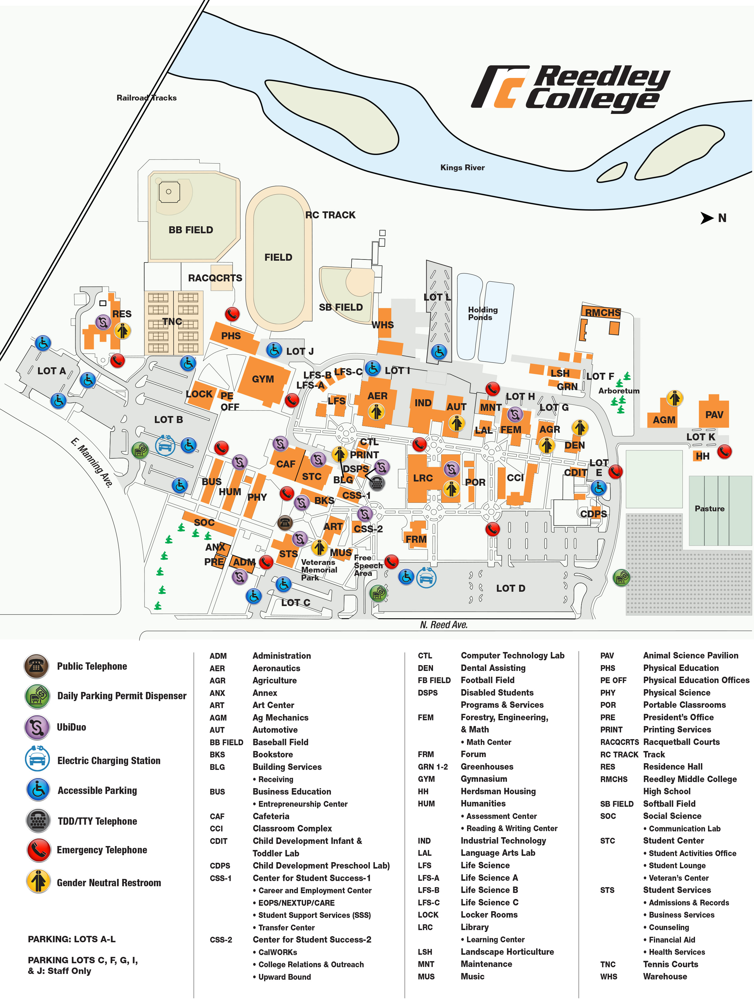 Reedley College Map Campus Map | Reedley College