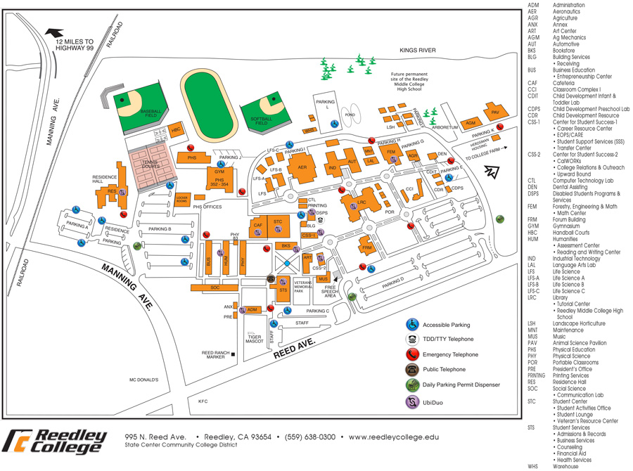 Campus Map Reedley College