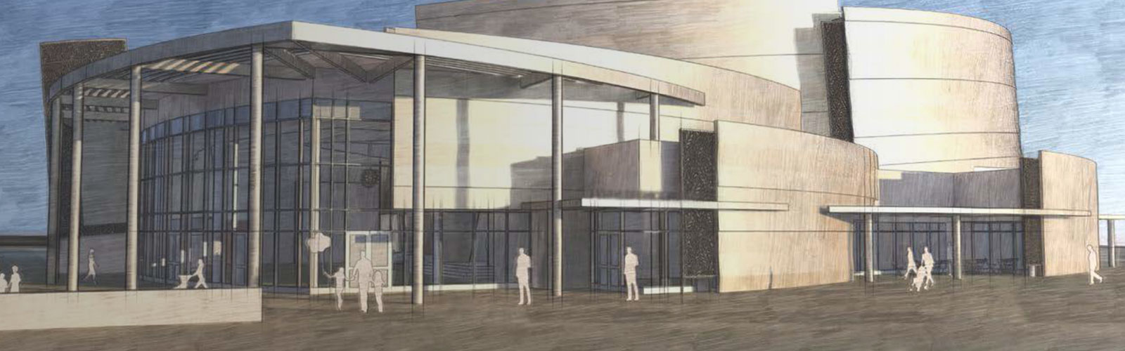 draft drawing of performing arts center