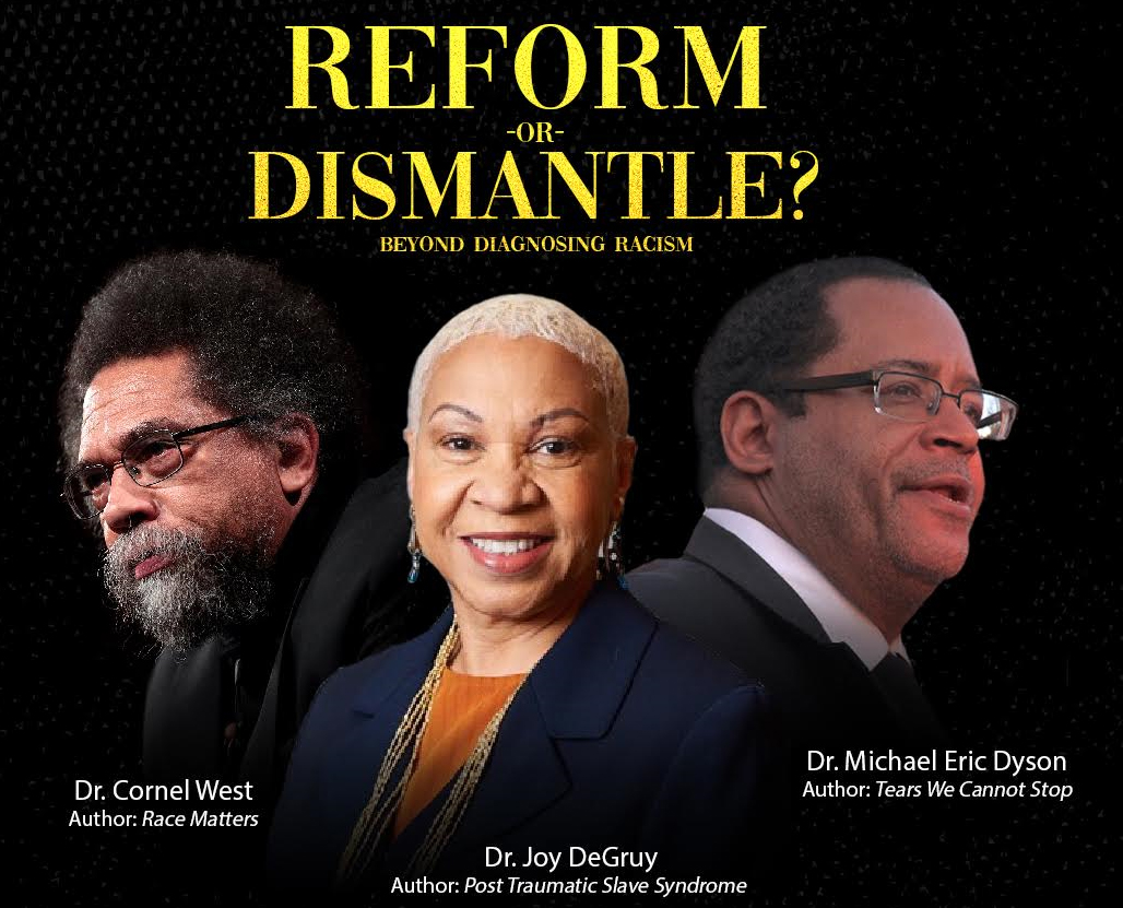 Reform or Dismantle? Preview image and head shots.